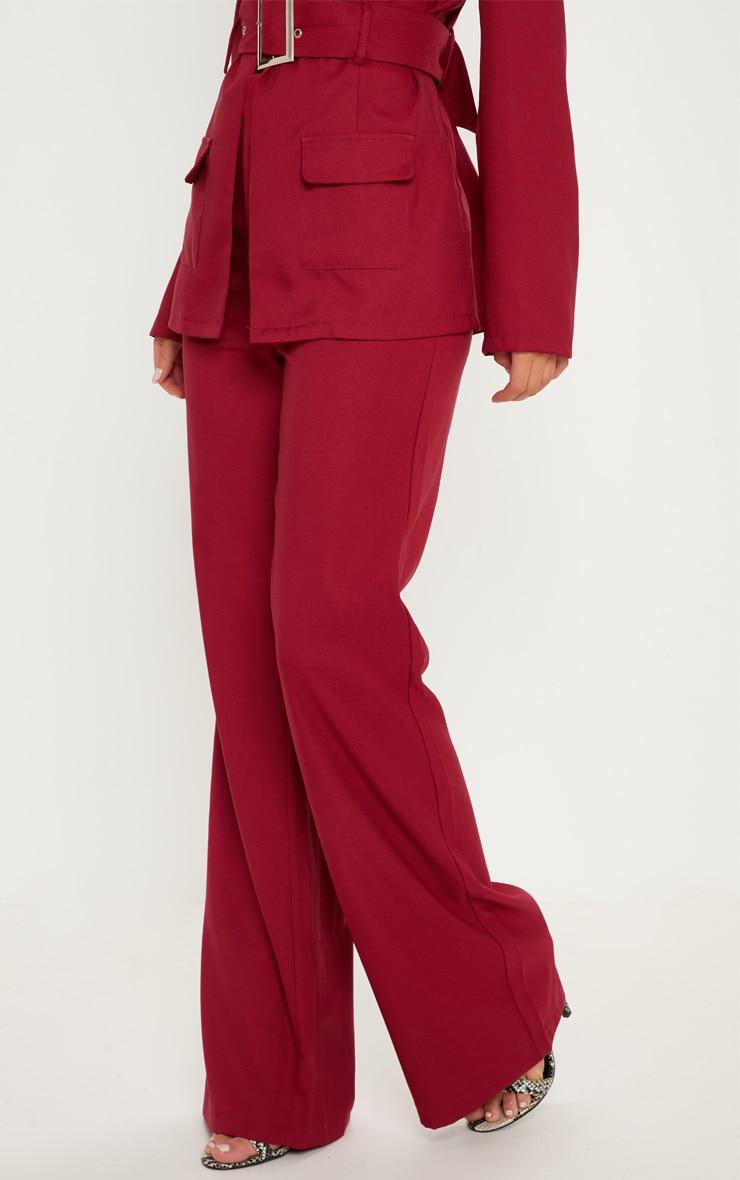 Pantalon ample bordeaux 2