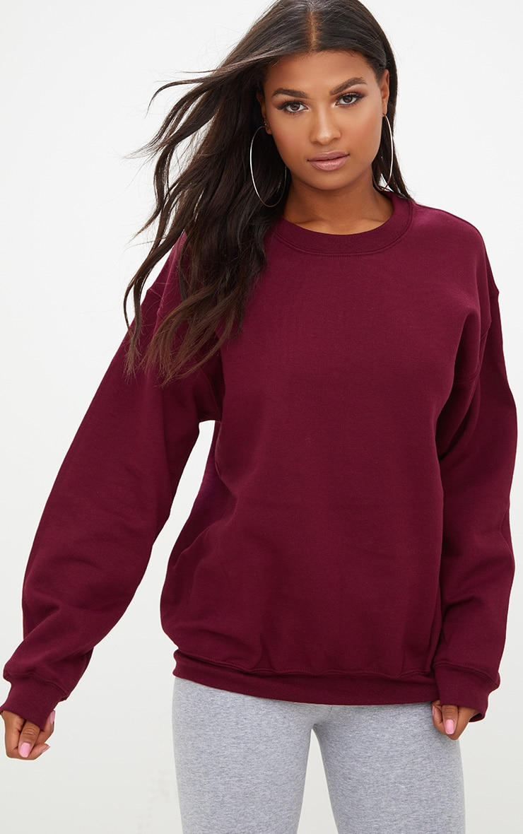 Maroon Ultimate Oversized Sweatshirt 1