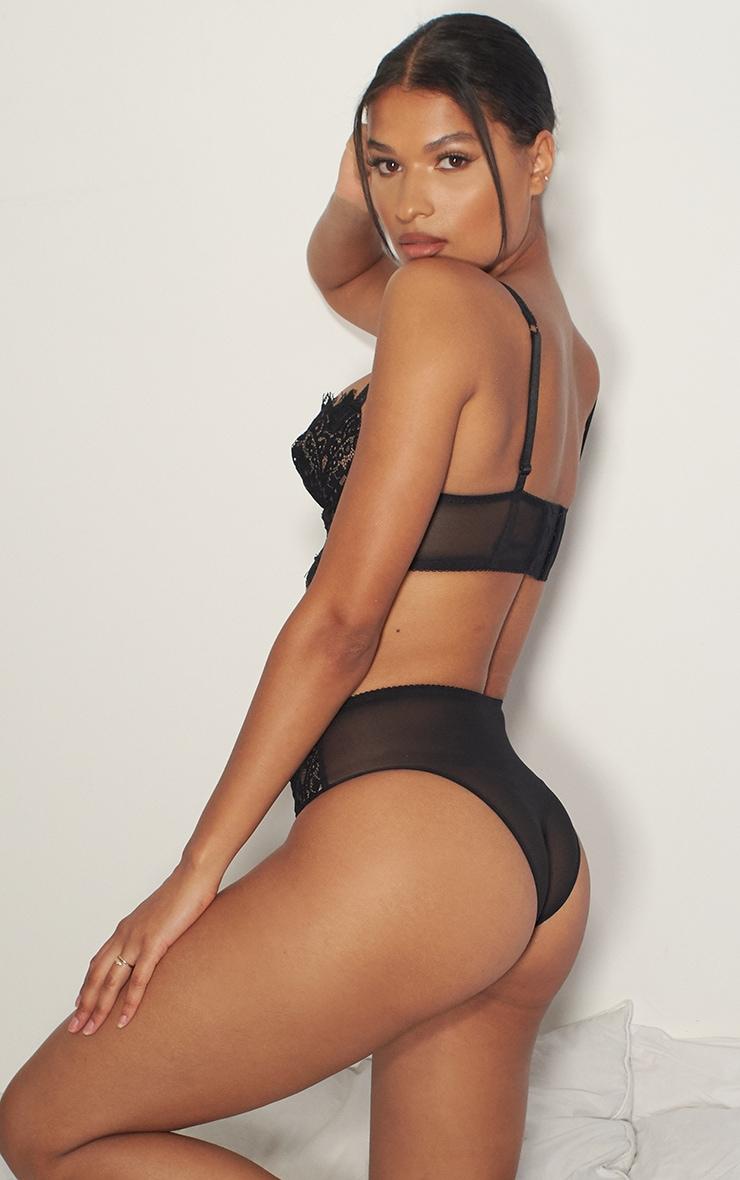 Black Ann Summer High Waist Lace Brazilian 2