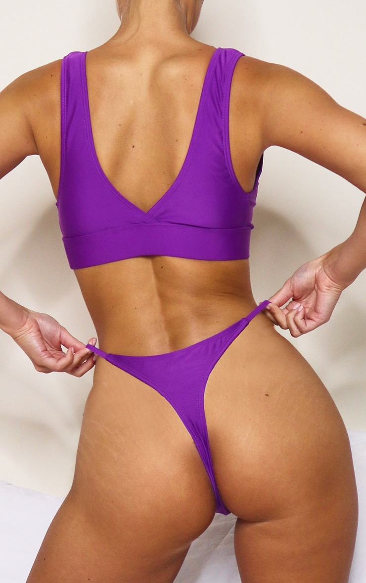 Purple Mix & Match String Thong Bikini Bottoms 1