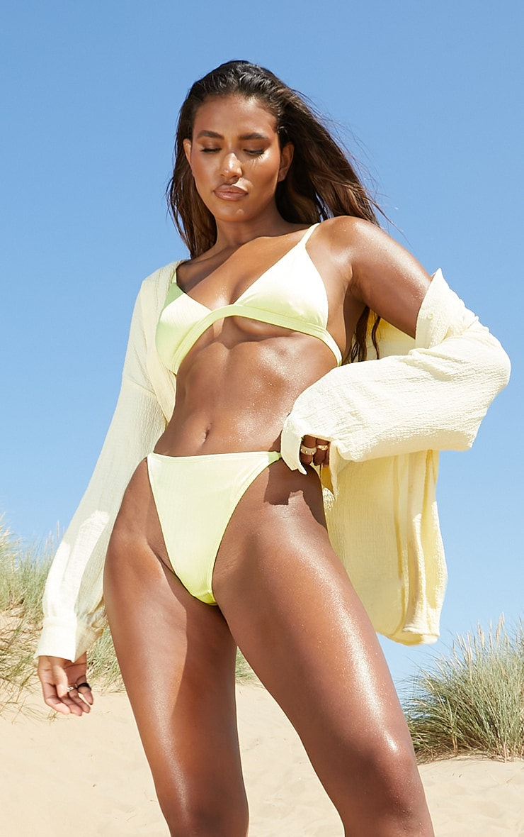 Lemon Shiny Itsy Bitsy Bikini Top 1