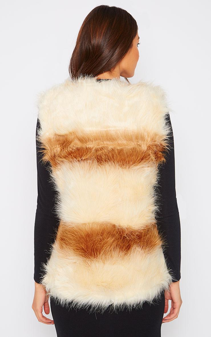 Reilly Two Tone Fur Waistcoat  2