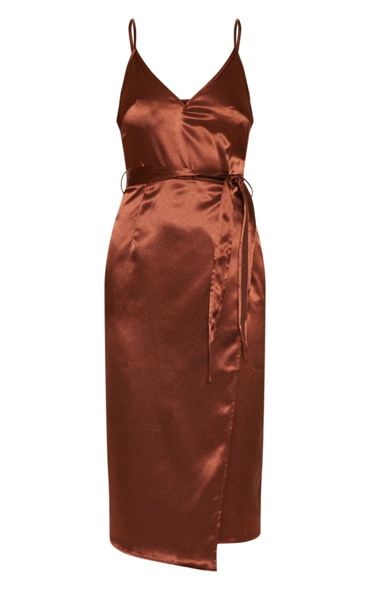 Chocolate Wrap Slip Dress 2