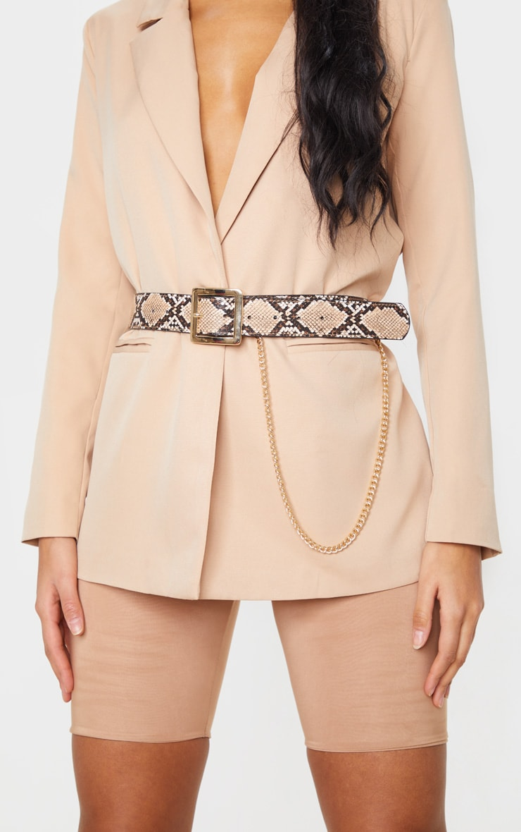 Natural Snake Belt With Gold Chain 1