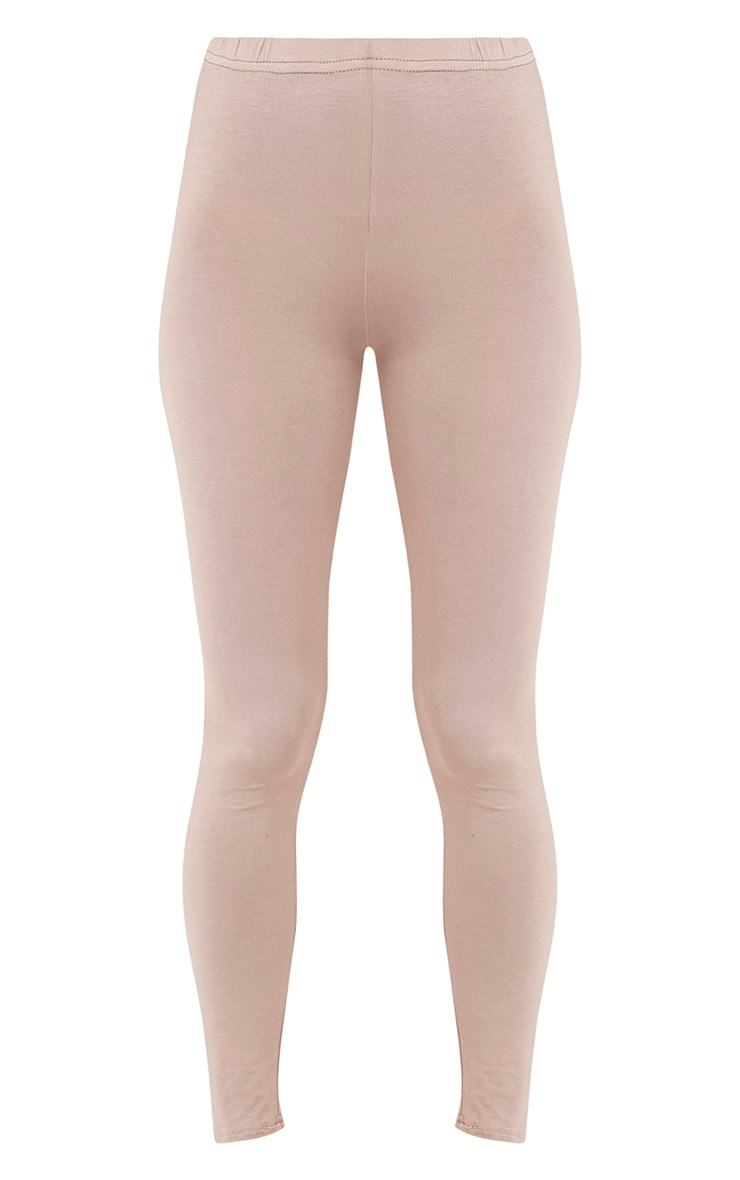 Basic Taupe Jersey Leggings 3
