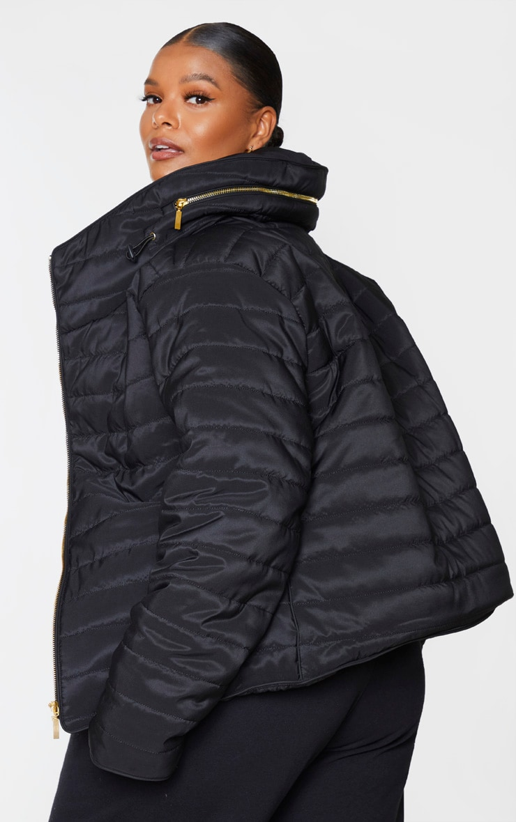 Plus Mara Black Puffer Jacket 2