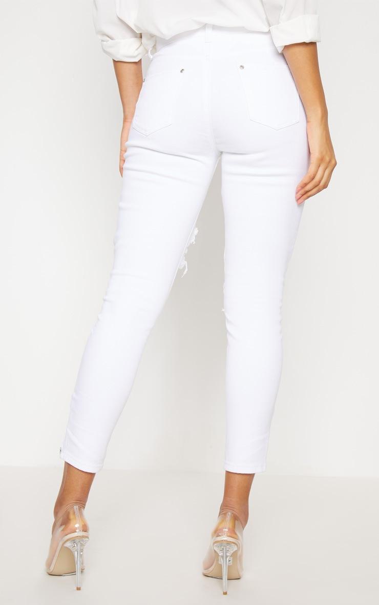 Extreme Rip White 5 Pocket Skinny Jean 4