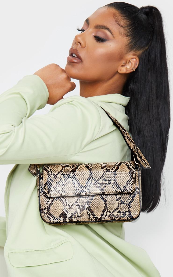 Brown Snake Cross Body Bag 2