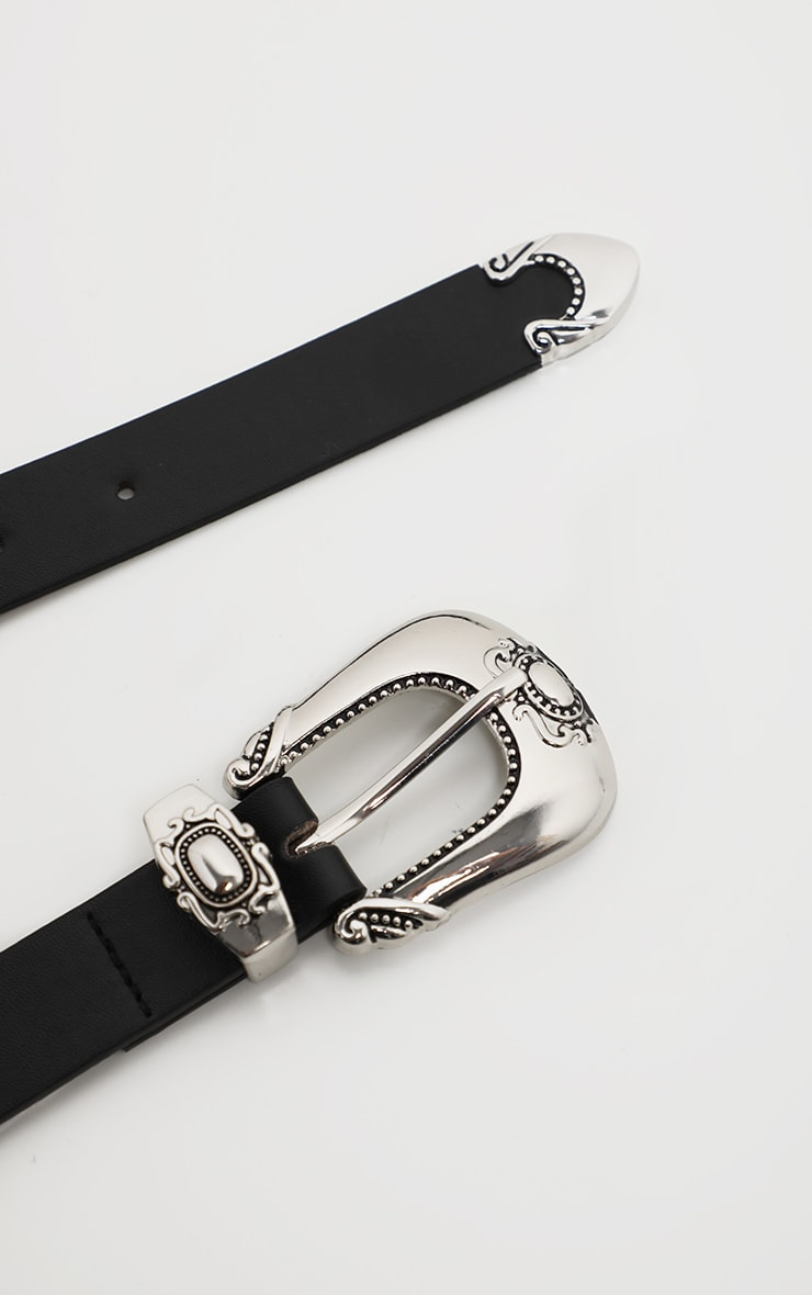 Black Western Buckle Belt 3