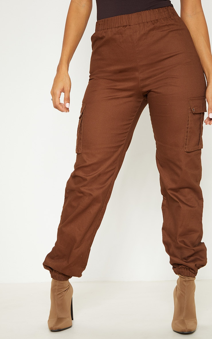 Chocolate Pocket Detail Cargo Pants 2