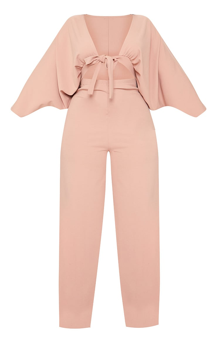 Plus Blush Crepe Batwing Cut Out Jumpsuit 4