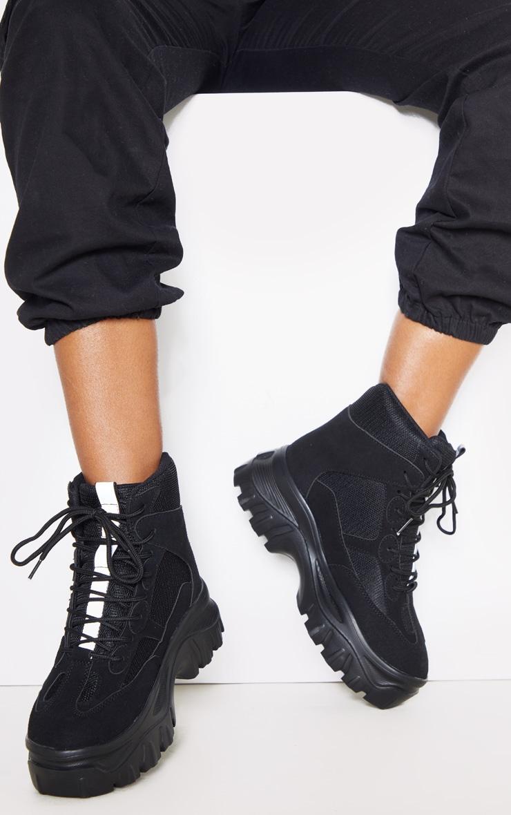Black Flatform Chunky Sneakers 1