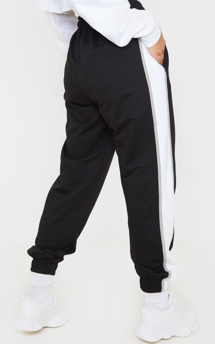 Black Multi Side Stripe Joggers 4
