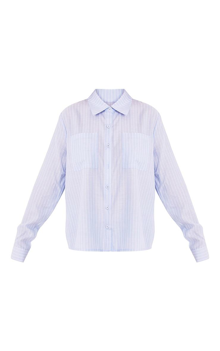 Bethany Light Blue Soft Stripe Shirt 3