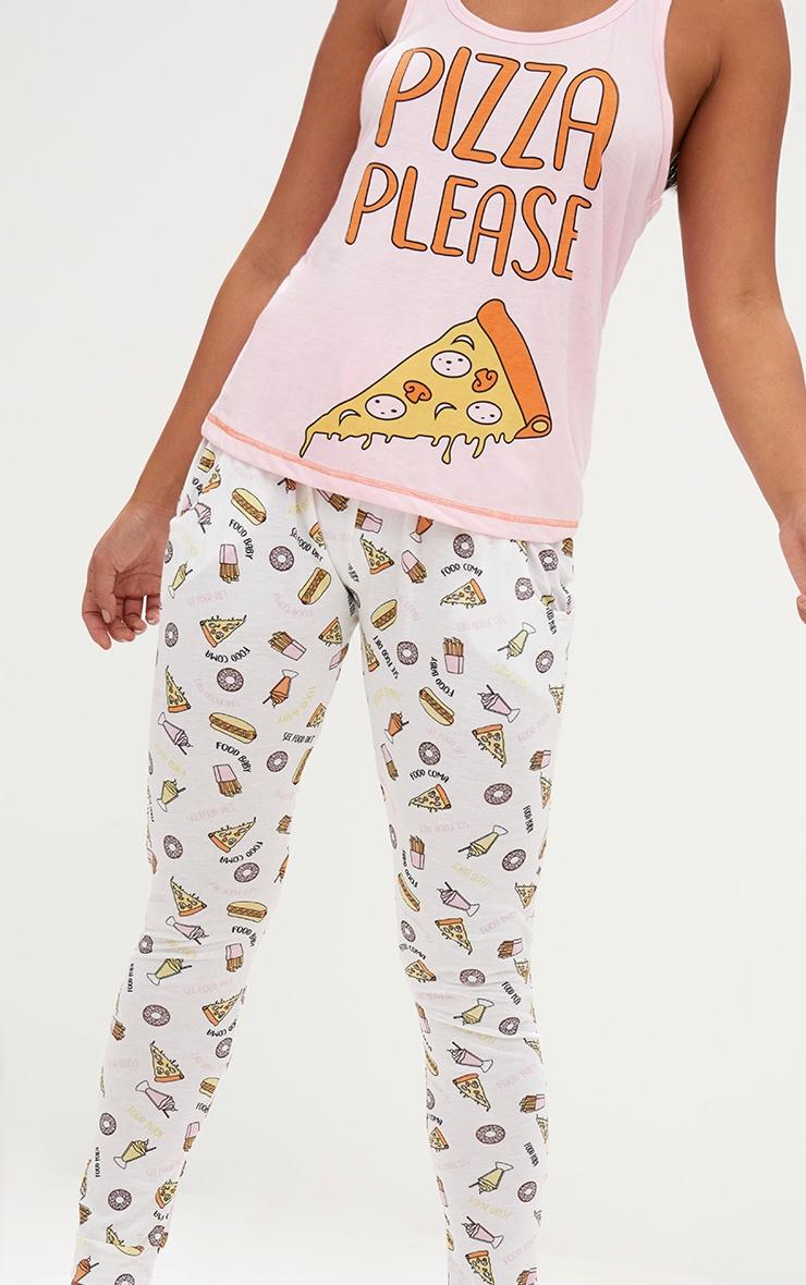 Pink Pizza Please PJ Set 5