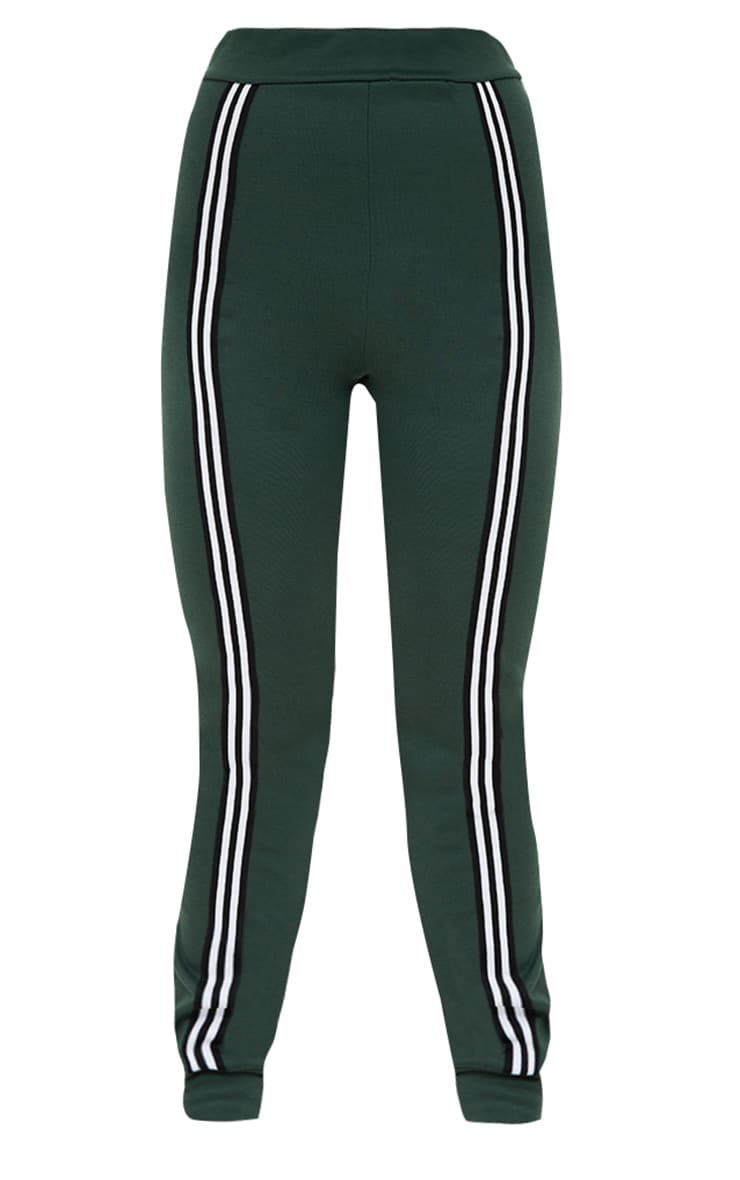 Emerald Green Track Stripe Joggers 3