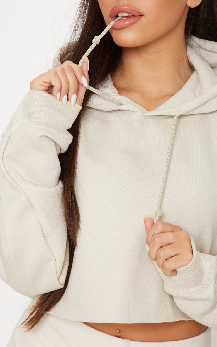 Sand Ultimate Oversized Crop Hoodie  5