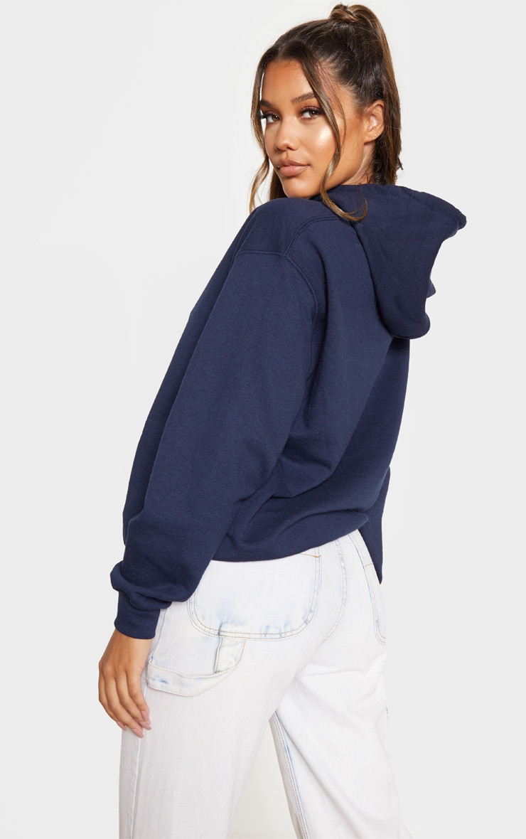 Navy That Is Plenty Slogan Hoodie 2