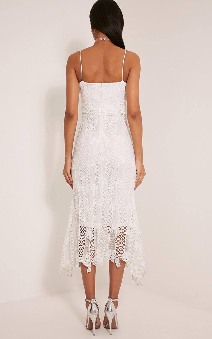 Reeya White Lace Midaxi Dress 2