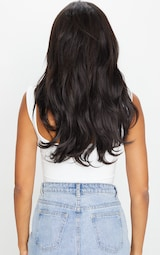 Lullabellz Super Thick 16 5 Piece Blow Dry Wavy Clip In Hair Extensions Natural Black 4