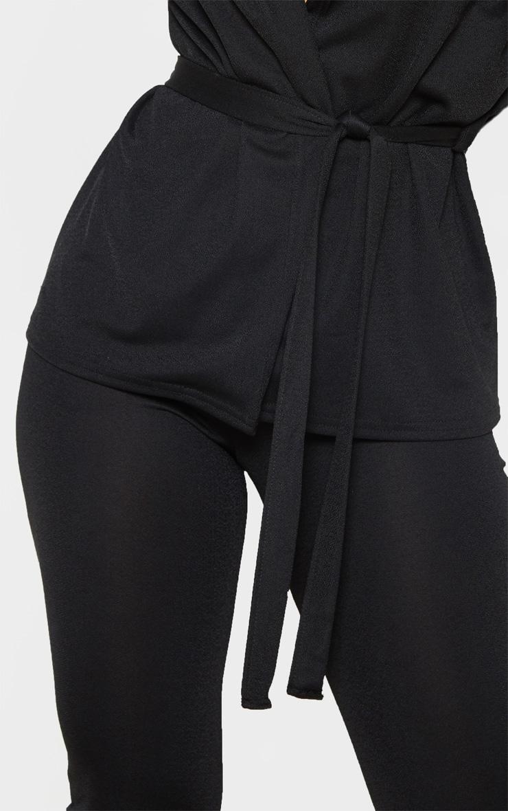Petite Black Tie Waist Jacket 5