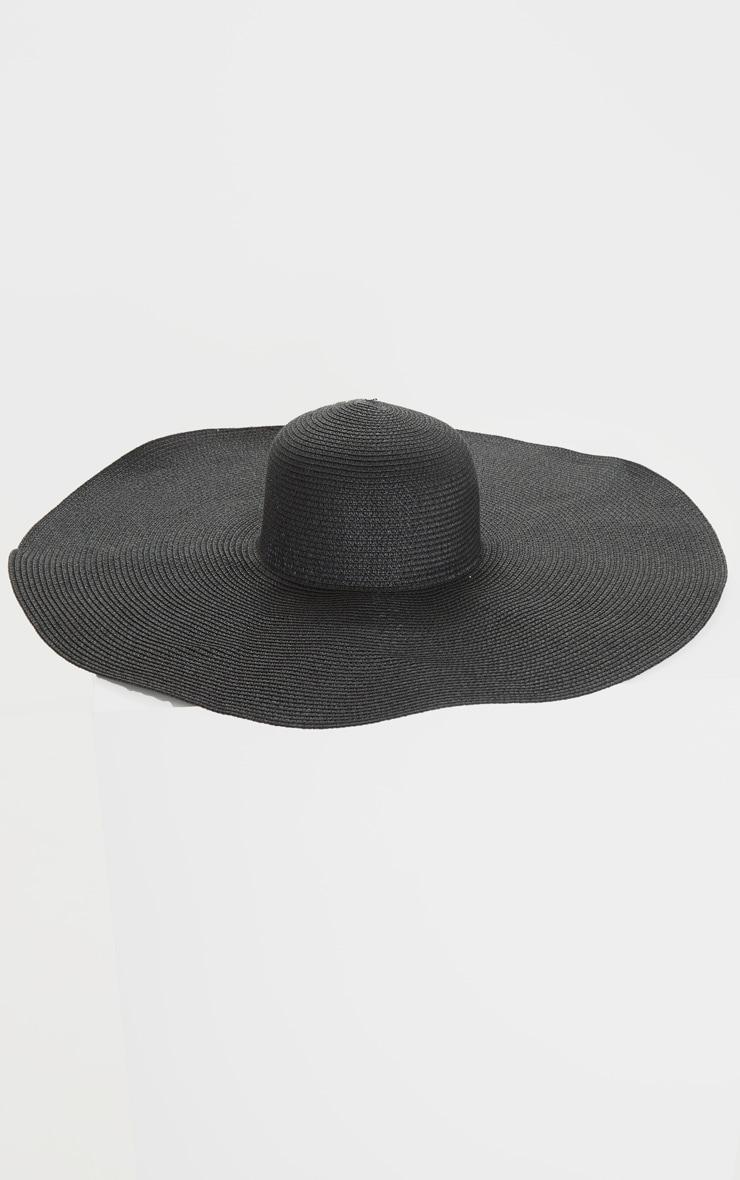 Black Extra Large Oversized Sun Hat 2