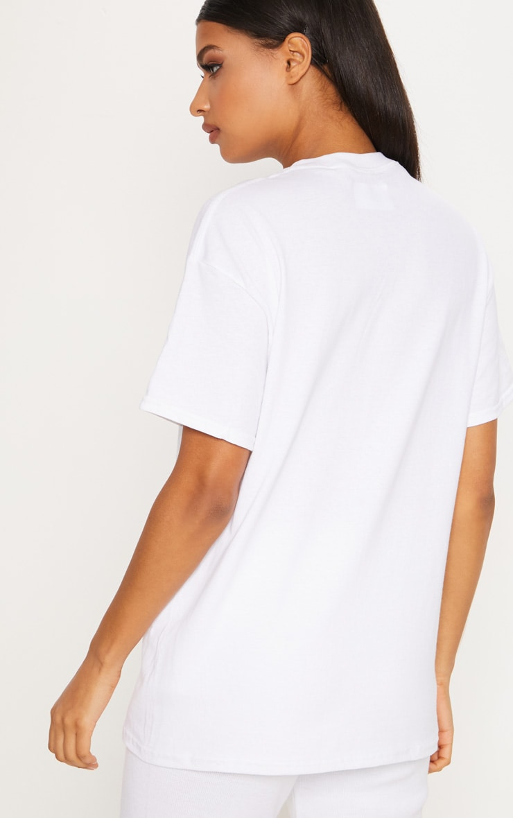 White California Slogan Oversized T Shirt 2