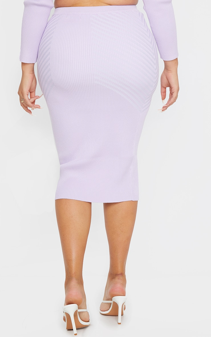 Plus Lilac Knit Mid Skirt 3