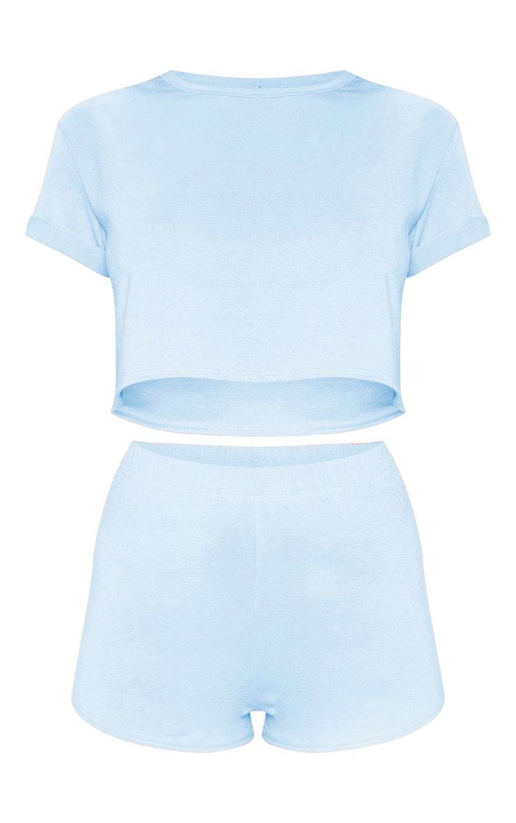 PRETTYLITTLETTHING - Ensemble pyja-short bleu clair 3