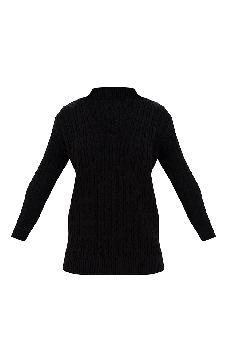 Black Choker Knitted Jumper 3