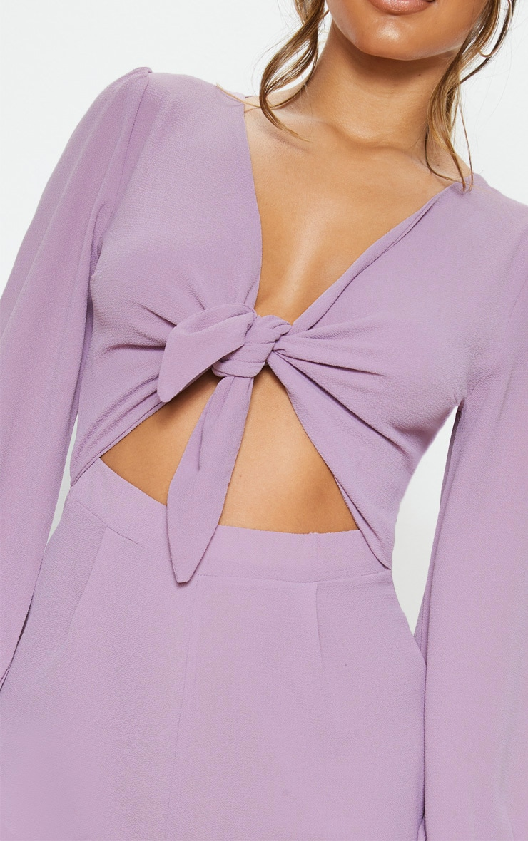 Lilac Tie Front Playsuit 5