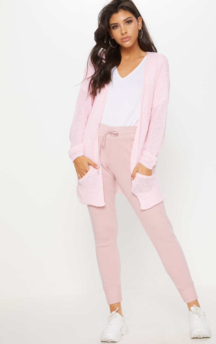 Pale Pink Lightweight Knit Cardigan