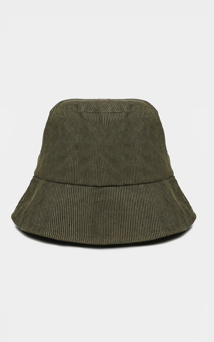 Khaki Cord Bucket Hat 2