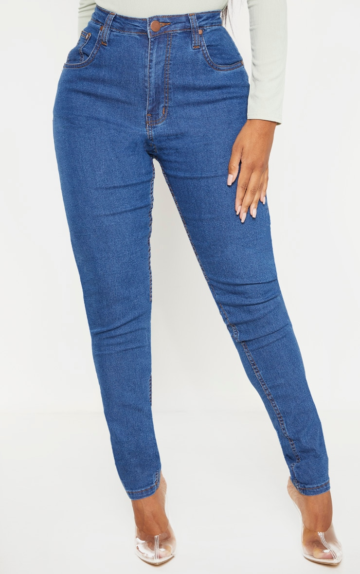 Shape Mid Wash High Waist Super Stretch Denim Jeans 2