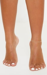Gold Double Chain Layer Anklet 1