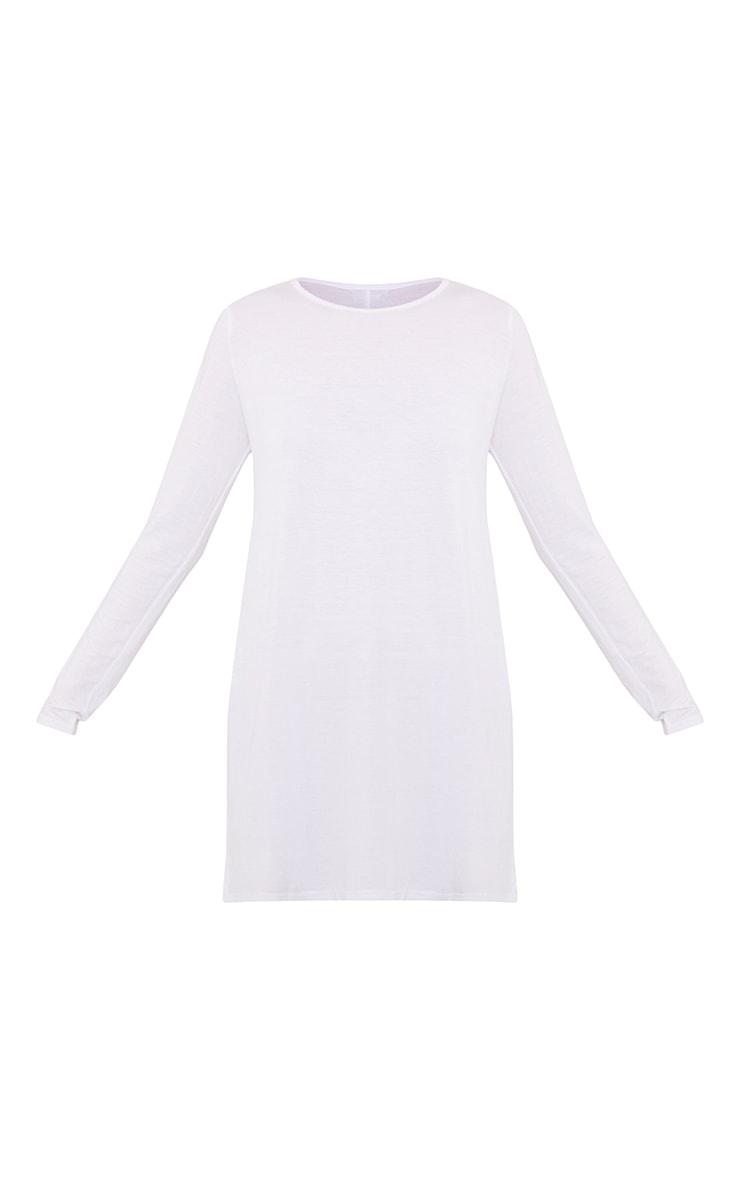 Tamsyn White Long Sleeve Side Split Top 3