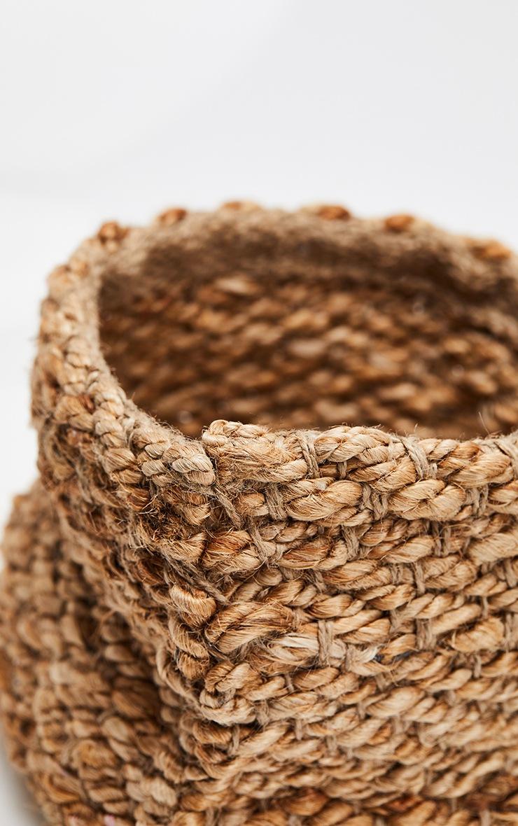 Natural Square Woven Basket 4