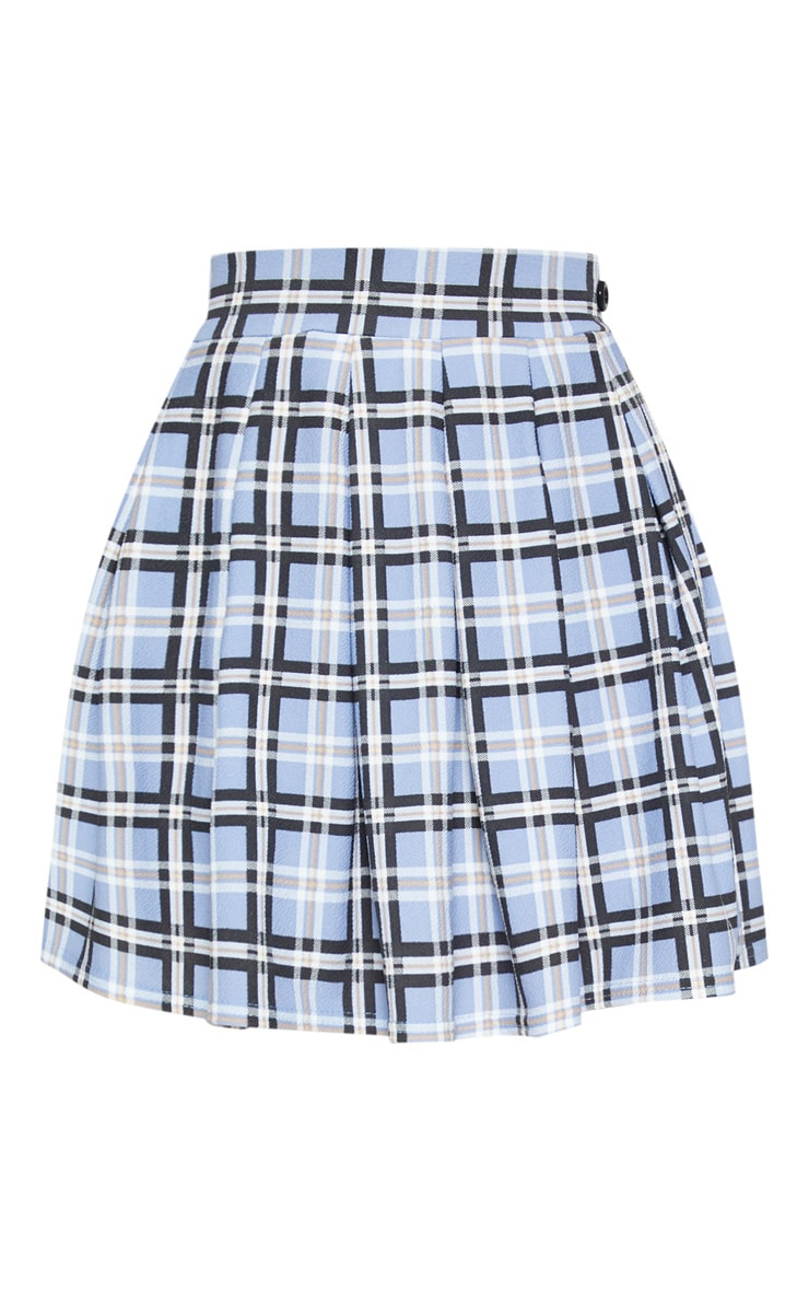 Pastel Check Pleated Tennis Skirt 3