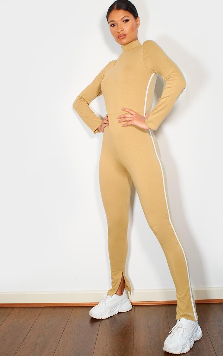 Camel Sports Stripe High Neck Jumpsuit 1