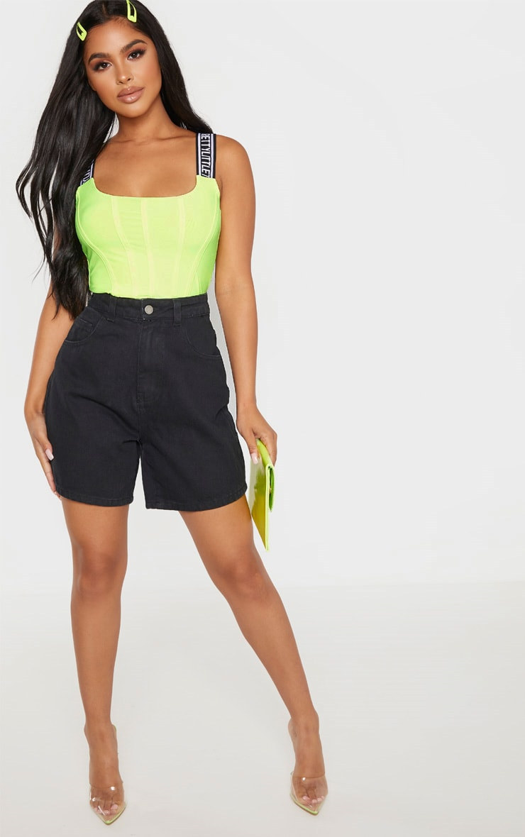 Petite - Short mom jean noir 5