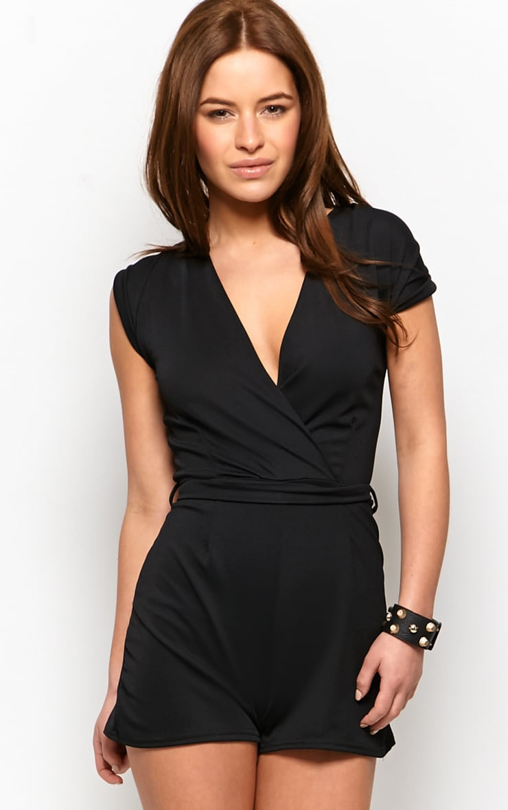 Kacey Black Crossover Playsuit  1