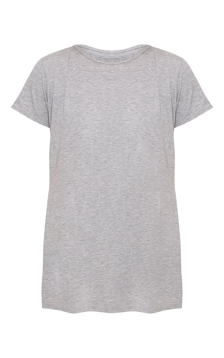 Grey Side Split T-Shirt 3