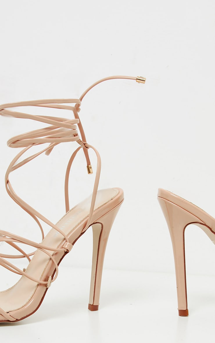 Nude Tube Strappy Point Toe Sandal 3