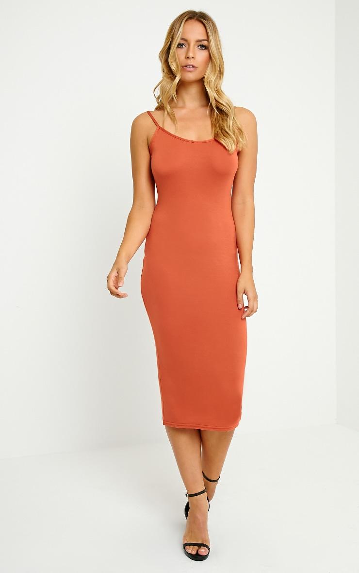 Basic Rust Midi Vest Dress 3