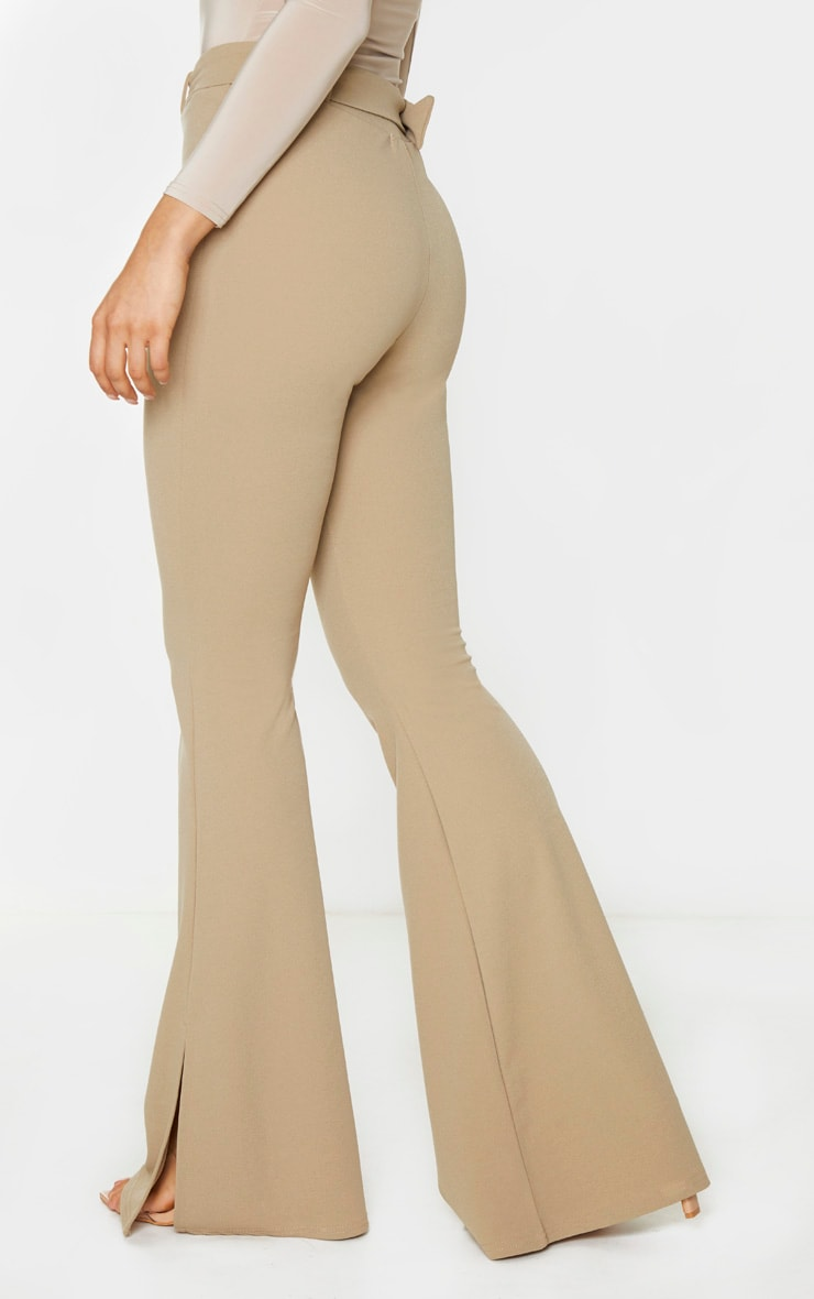 Tall Stone Crepe Belt Detail Trousers 4