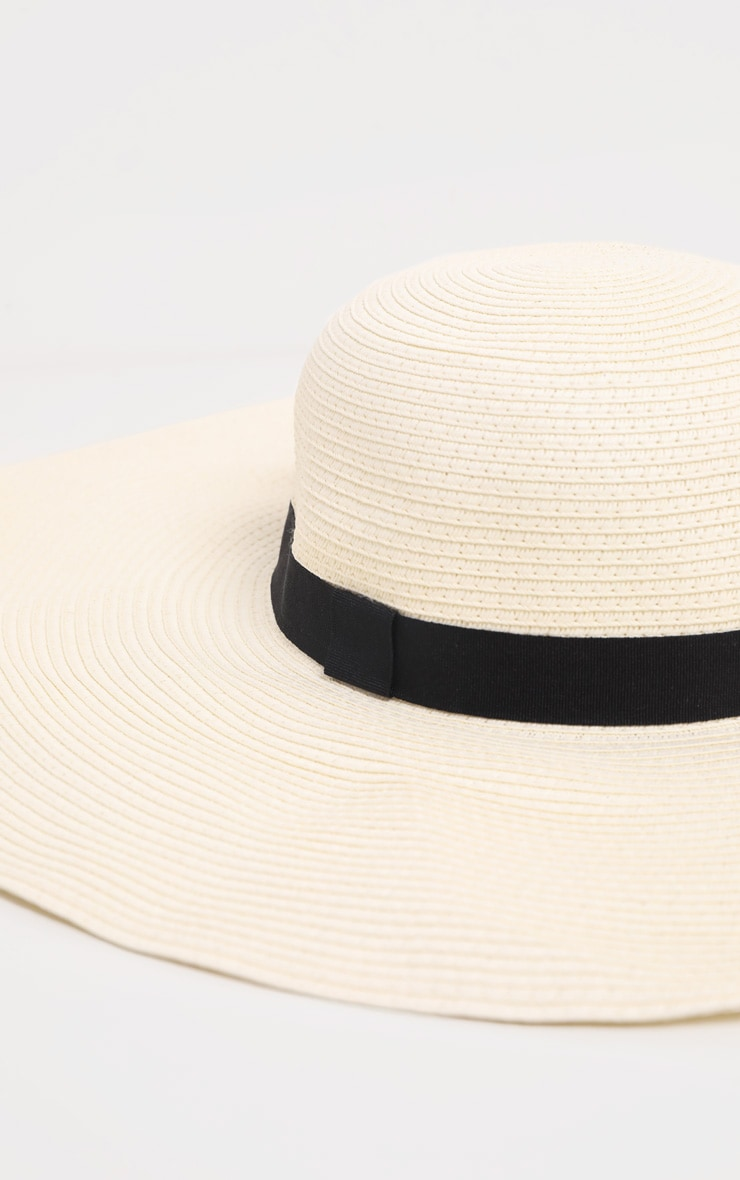 Cream Floppy Sun Hat 3