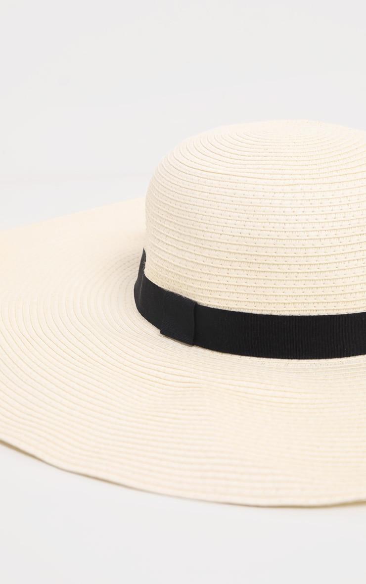 Cream Floppy Sun Hat 3