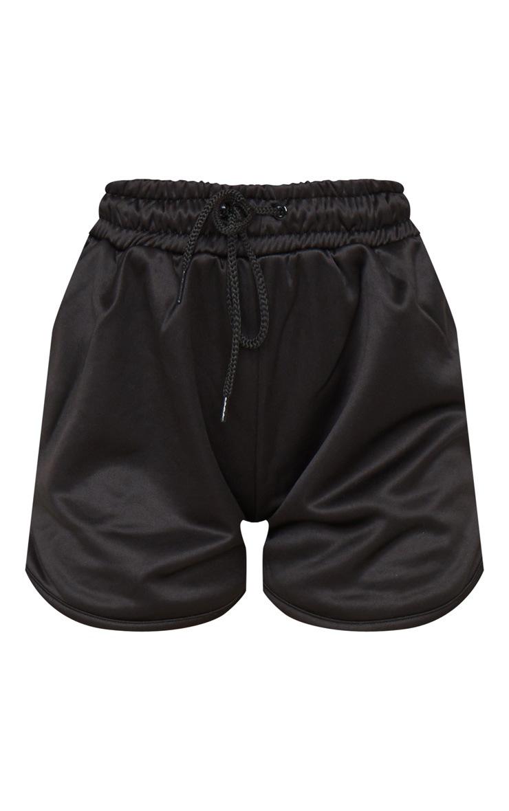 Black Stripe Nylon Side Stripe Drawstring Shorts 6