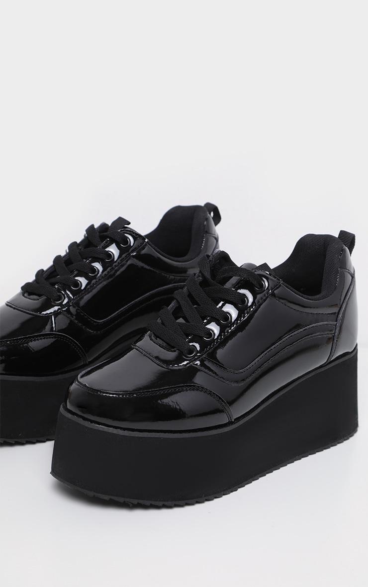 Black Triple Sole Flatform Sneakers 4