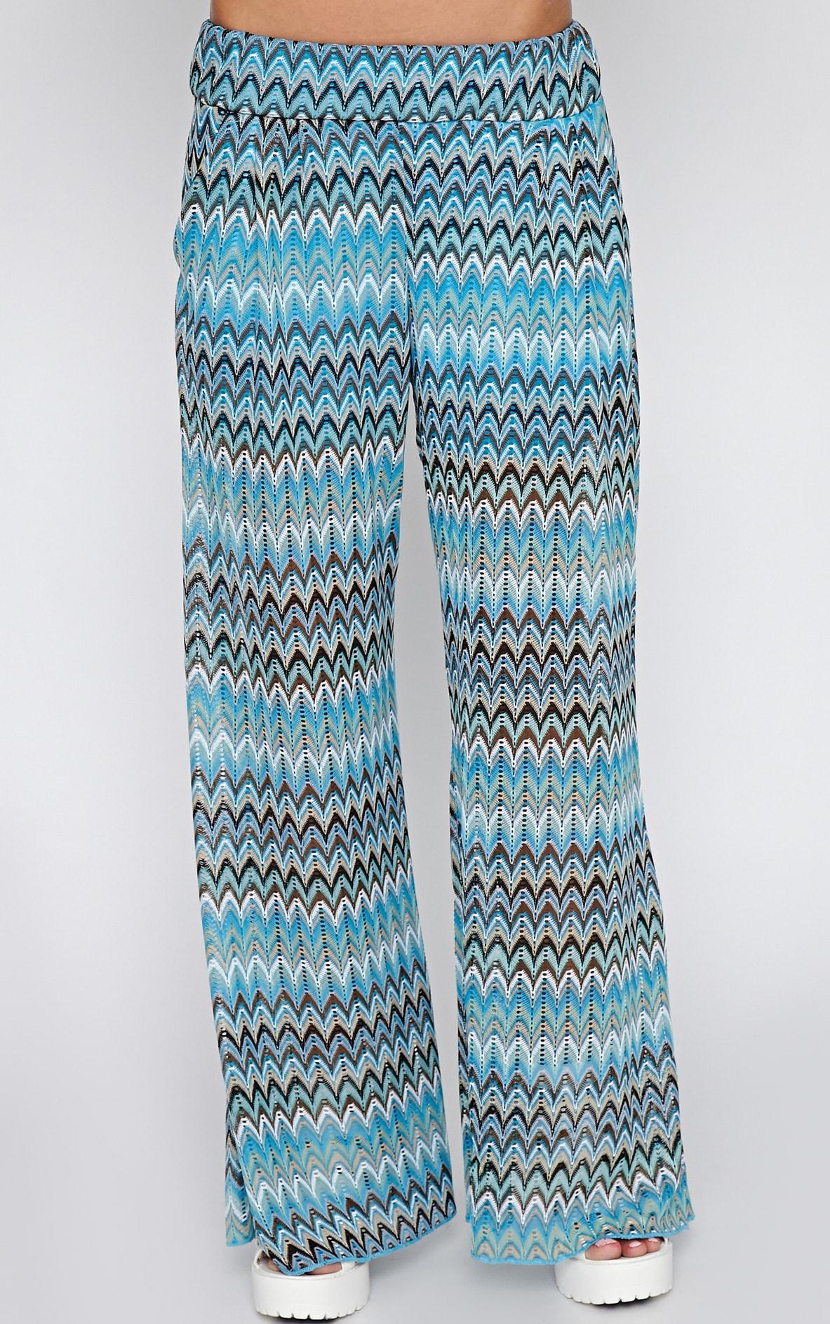 Machiko Blue Zig Zag Trouser 2